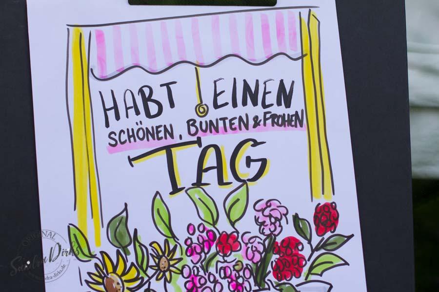 Sandra Dirks - Mini - Flipchartkurs Blumenfenster Detail Text