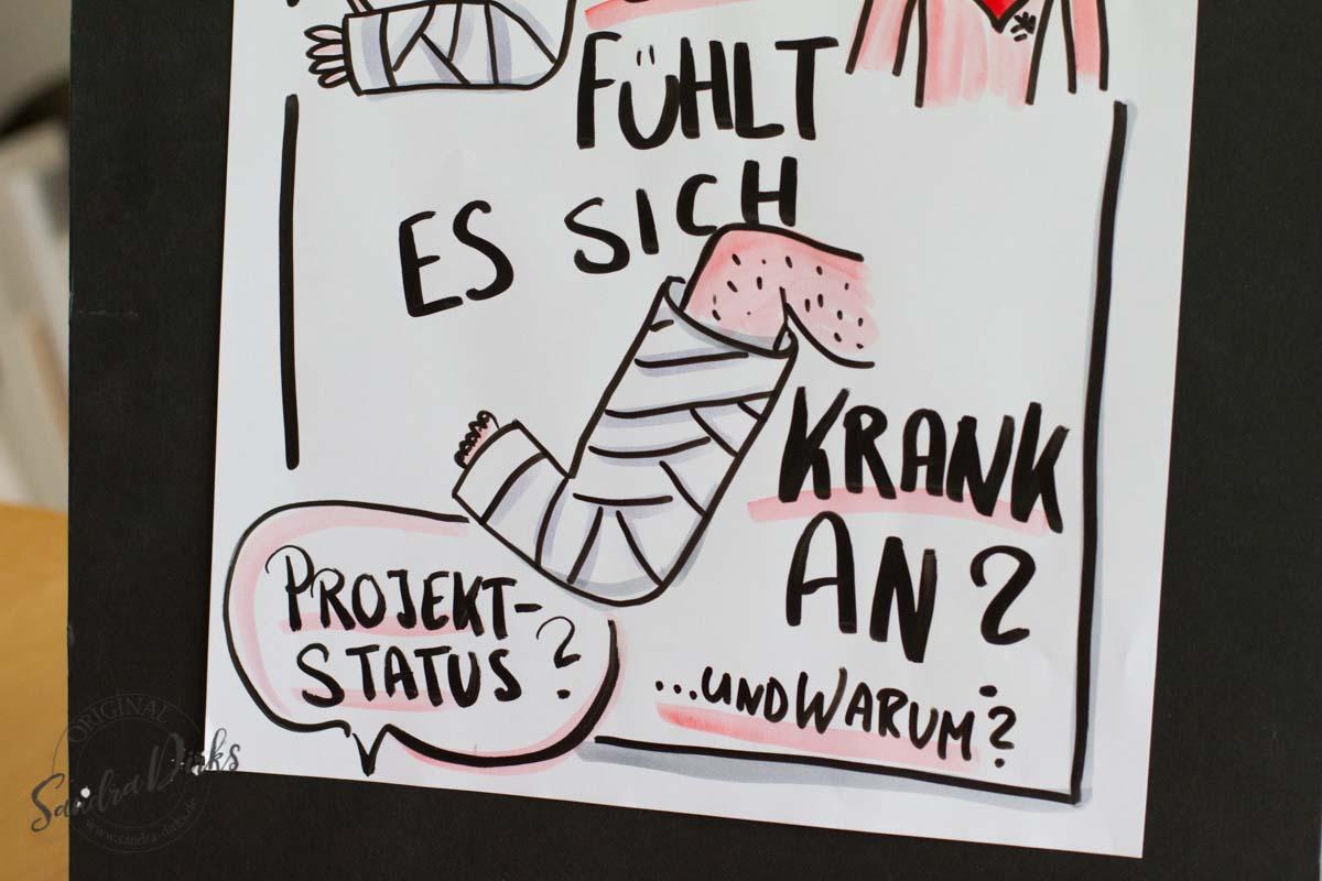 Sandra Dirks - Mini - Flipchartkurs mit Verband verbunden Detail: Bein