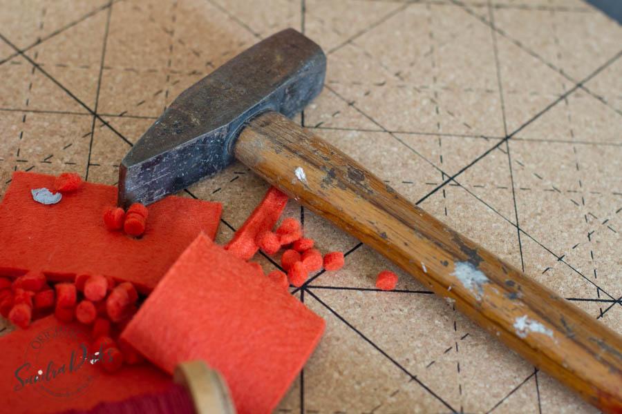Sandra Dirks - Bastelanleitung Tutorial Stiftehalter aus Filz Material: Hammer