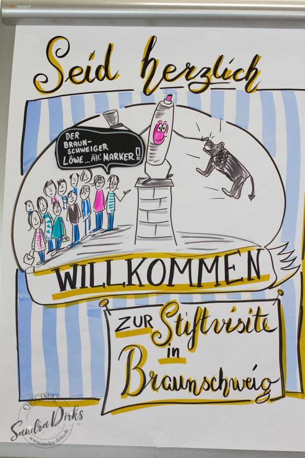 Sandra Dirks - Stiftvisite - das Visualisierungstraining in Braunschweig Willkommensplakat