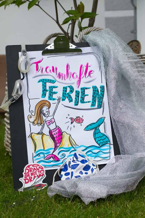 Mini - Flipchartkurs mit Sandra Dirks - Thema: Die Meerjungfrau 3