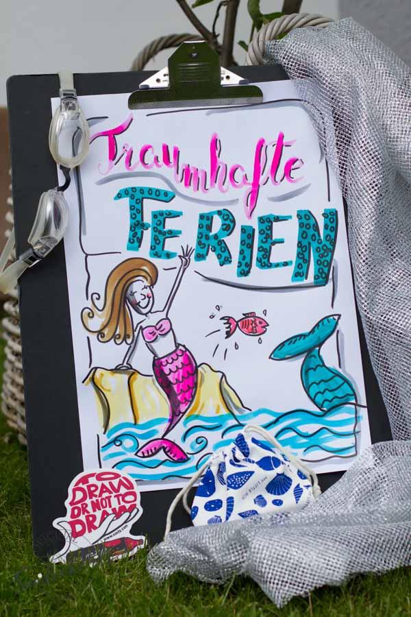 Mini - Flipchartkurs mit Sandra Dirks - Thema: Die Meerjungfrau 2