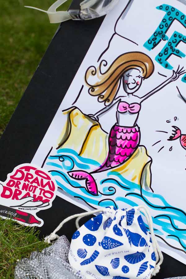Mini - Flipchartkurs mit Sandra Dirks - Thema: Die Meerjungfrau Detail