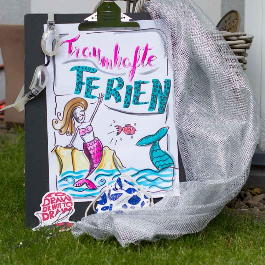 Mini - Flipchartkurs mit Sandra Dirks - Thema: Die Meerjungfrau Instagram