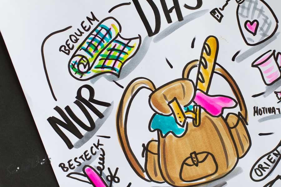 Mini - Flipchartkurs mit Sandra Dirks - Thema: Der Rucksack