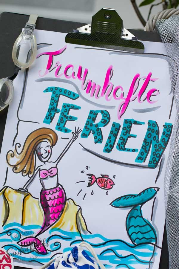 Mini - Flipchartkurs mit Sandra Dirks - Thema: Die Meerjungfrau