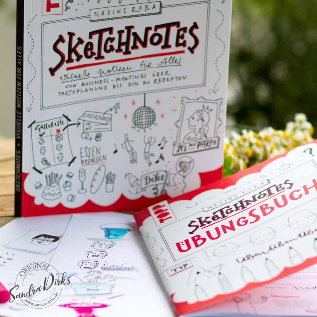 Sandra Dirks - Rezension zu Sketchnotes - Das Übungsbuch von Nadine Roßa