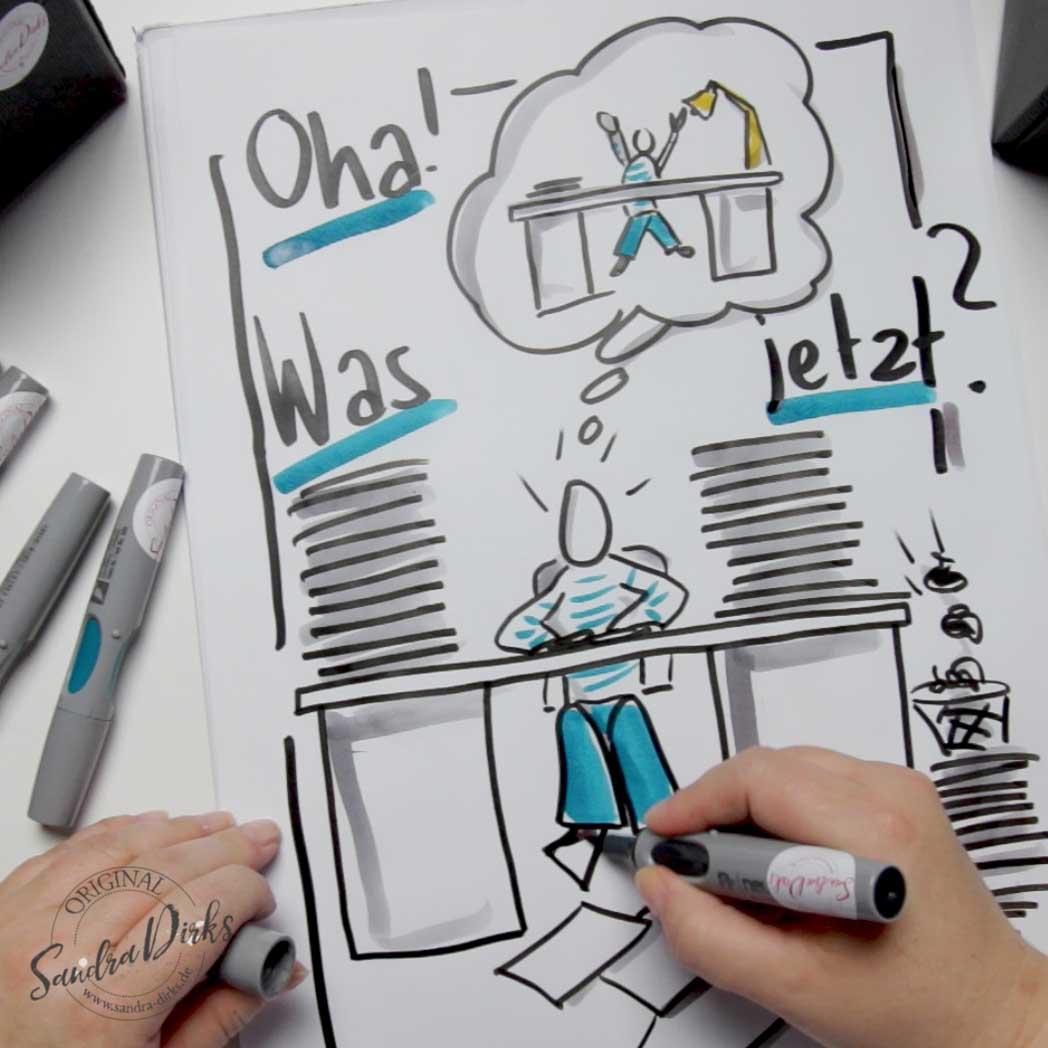 Sandra Dirks - Mini - Flipchartkurs Schreibtisch