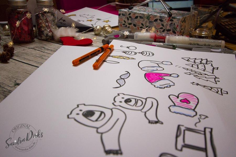 Sandra Dirks - Advents-Special 2017 - weihnachtliche Sketchnotes