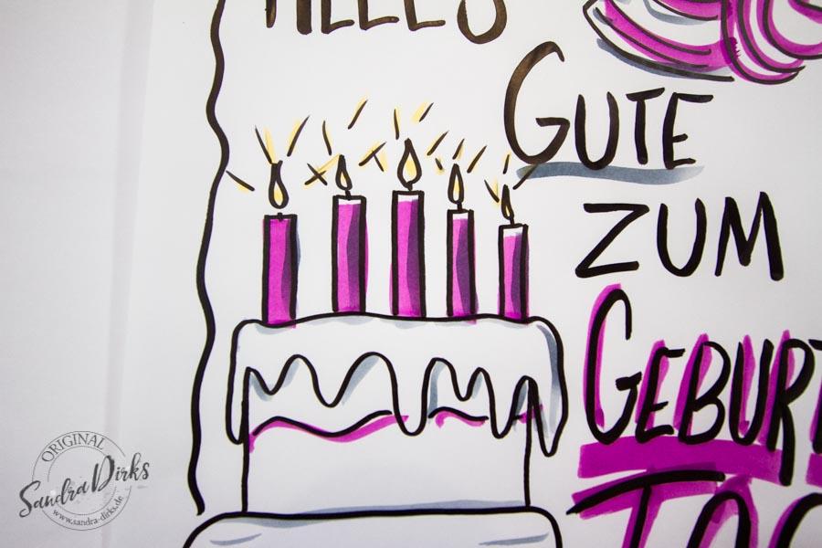 Sandra Dirks - Mini - Flipchartkurs Geburtstagstorte