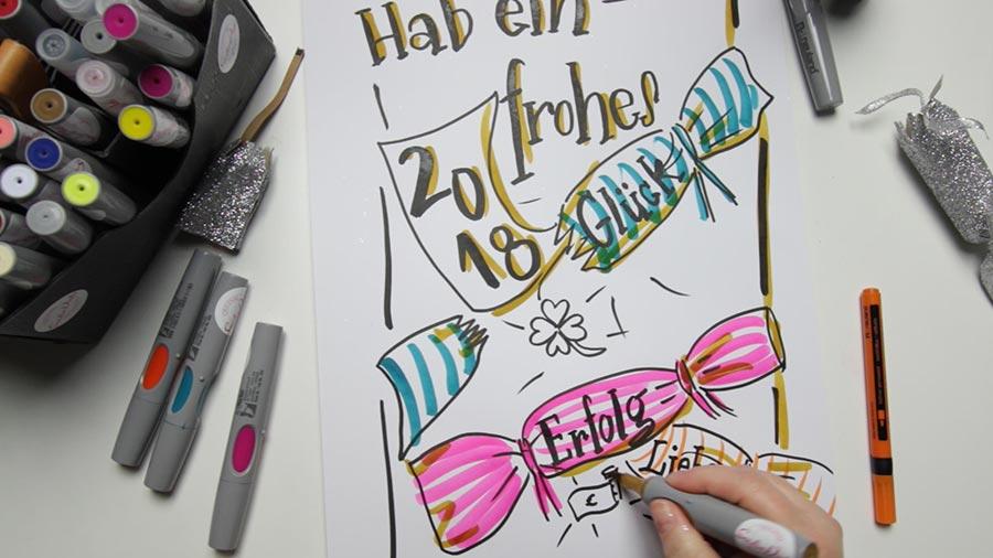 Sandra Dirks - Mini - Flipchartkurs So zeichnest du ein Knallbonbon