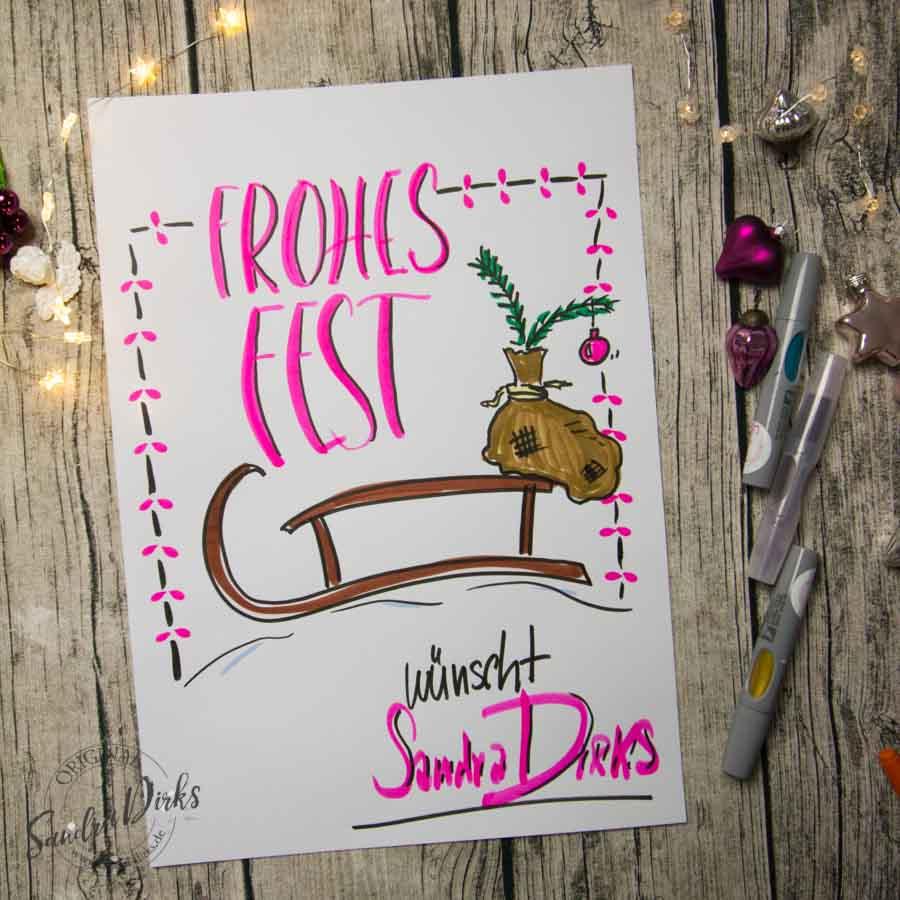 Sandra Dirks - Mini - Flipchartkurs So zeichnest du einen Schlitten