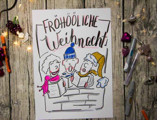 Sandra Dirks - Mini - Flipchartkurs So zeichnest du einen Weihnachtschor