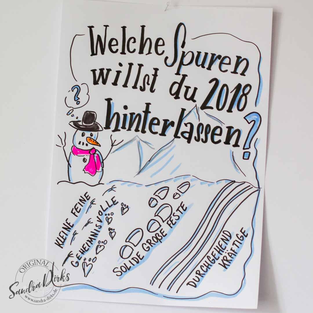 Sandra Dirks - Mini - Flipchartkurs So zeichnest du Spuren im Schnee