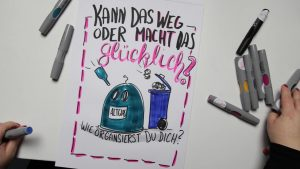 Sandra Dirks - Mini - Flipchartkurs So zeichnest du eine Mülltonne und einen Glascontainer