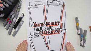 Sandra Dirks - Mini - Flipchartkurs - Zeichne ein Klemmbrett auf dein Flipchart