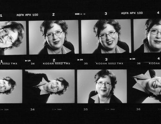 Sandra Dirks - Kontaktabzug mit Profilbildern von 2001