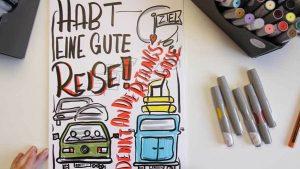 Sandra Dirks - Mini - Flipchartkurs - So zeichnest du einen Ferienstau auf dein Flipchart