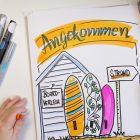 Sandra Dirks - Mini - Flipchartkurs - So zeichnest du Strand-Feeling auf dein Flipchart