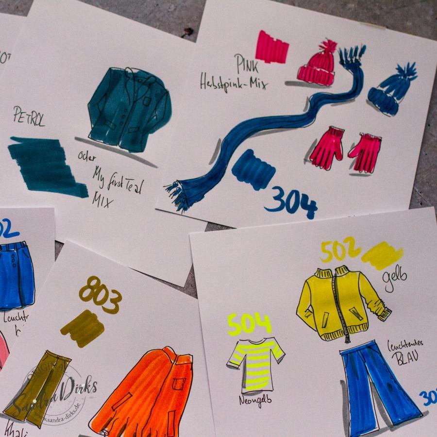 Sandra Dirks präsentiert die Herbstfarben 2018 fürs Flipchart