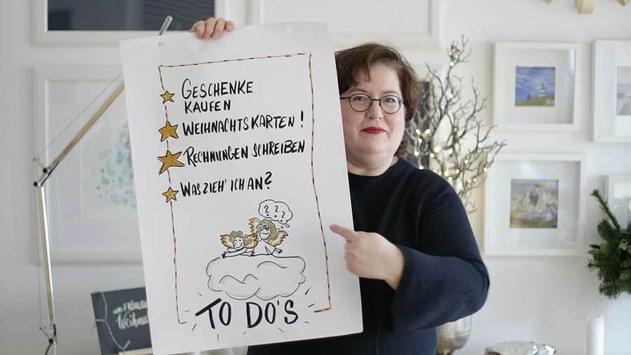 Sandra Dirks - 14 weihnachtliche Flipchartideen für Event, Coaching oder einfach so