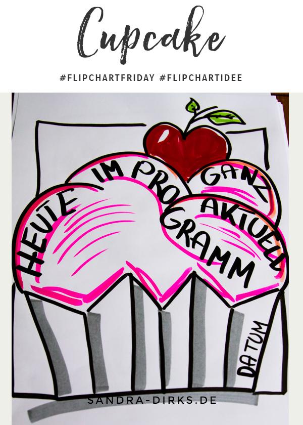 Sandra Dirks - FlipchartFriday - Der Cupcake