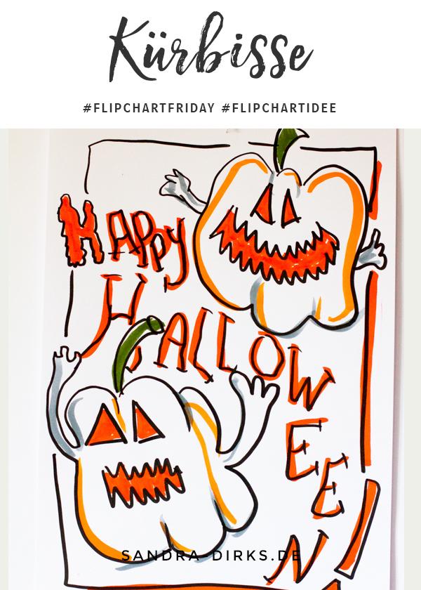 Sandra Dirks - FlipchartFriday - Mini- Flipchartkurs Kürbisse Halloween