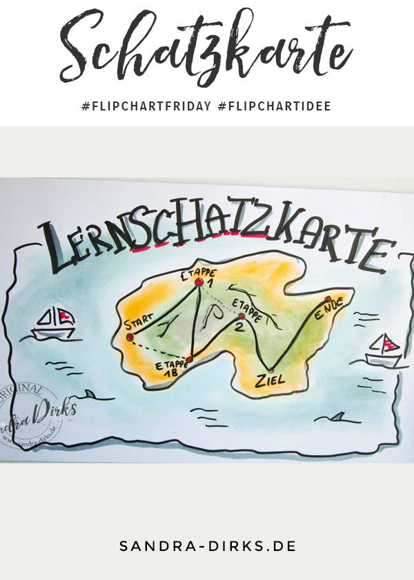 Sandra Dirks - FlipchartFriday - Mini- Flipchartkurs Lern- Schatzkarte