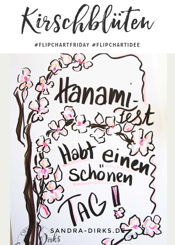 Sandra Dirks - FlipchartFriday - Mini- Flipchartkurs Hanami Kirschblüten