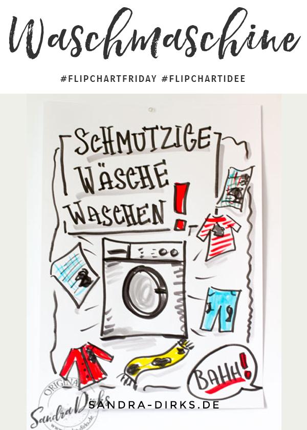 Sandra Dirks - FlipchartFriday - Mini- Flipchartkurs Waschmaschine