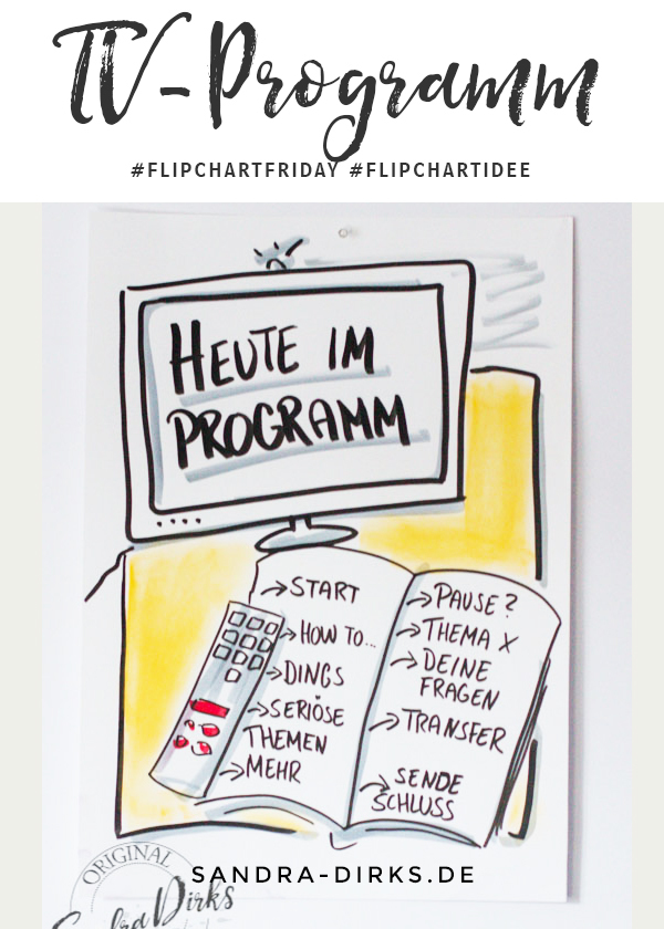 Sandra Dirks - FlipchartFriday - Mini- Flipchartkurs TV-Programm