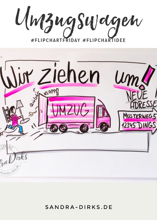 Sandra Dirks - FlipchartFriday - Mini- Flipchartkurs Umzugswagen