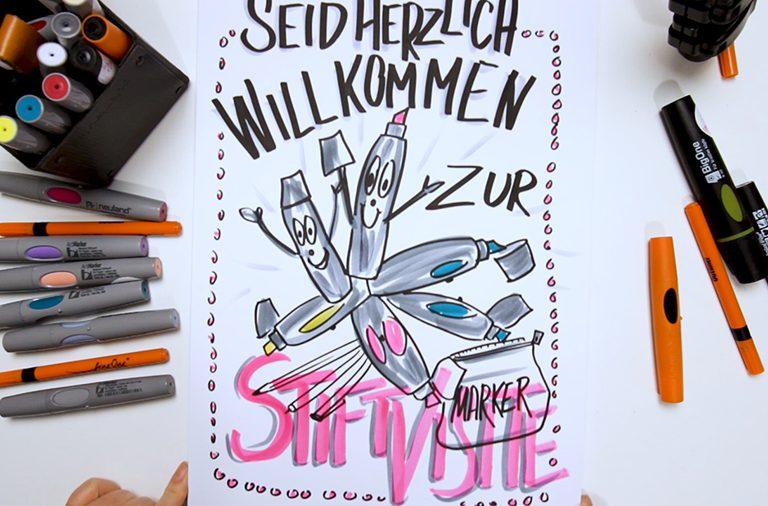Sandra Dirks - Mini - Flipchartkurs - So zeichnest du Flipchartmarker auf dein Flipchart