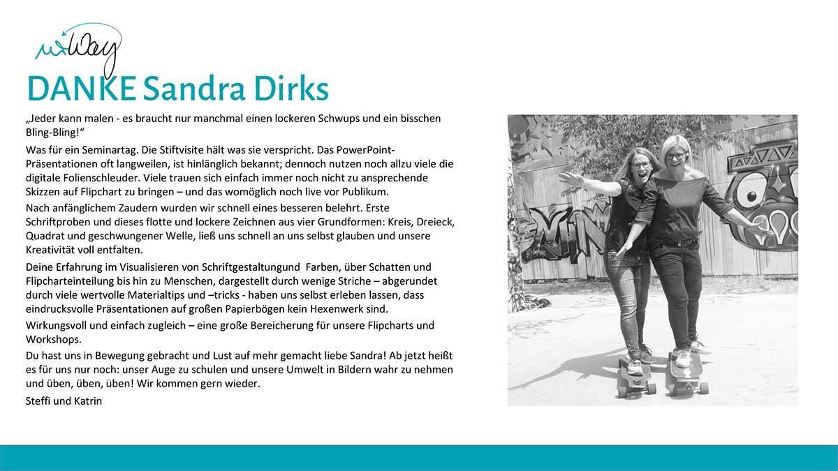 Sandra Dirks - Testimonal urWay
