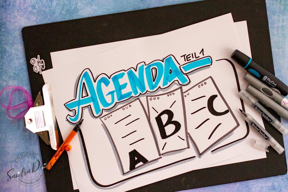 Sandra Dirks - ABC Agenda Flipchart gestalten