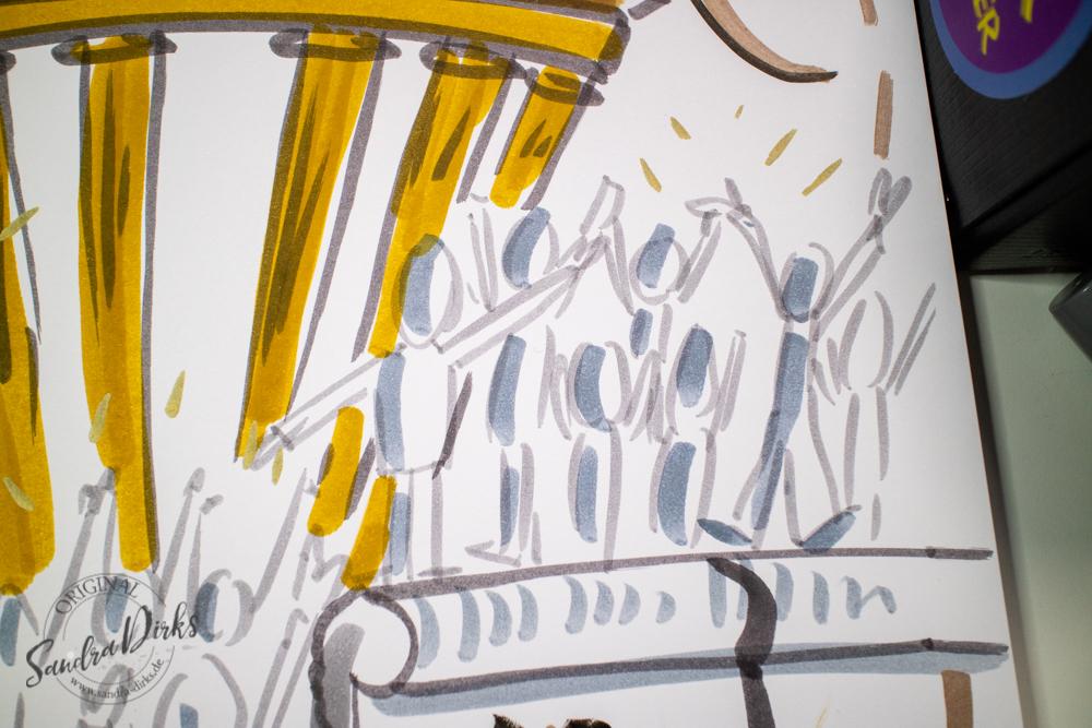 Sandra Dirks - Mini - Flipchartkurs - So zeichnest du den Mauerfall auf dein Flipchart