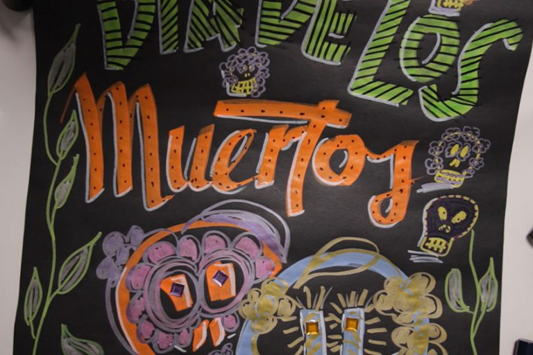 Sandra Dirks - Mini - Flipchartkurs - So zeichnest du dekorative Totenköpfe auf dein flipchart für den Dia de los Muertos