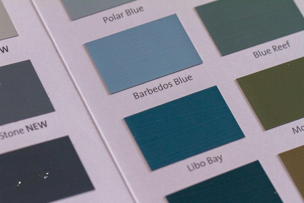 Sandra Dirks - Blautöne mixen mit wasserlöslicher Tinte zum Nachfüllen der Marker - Wunschfarben