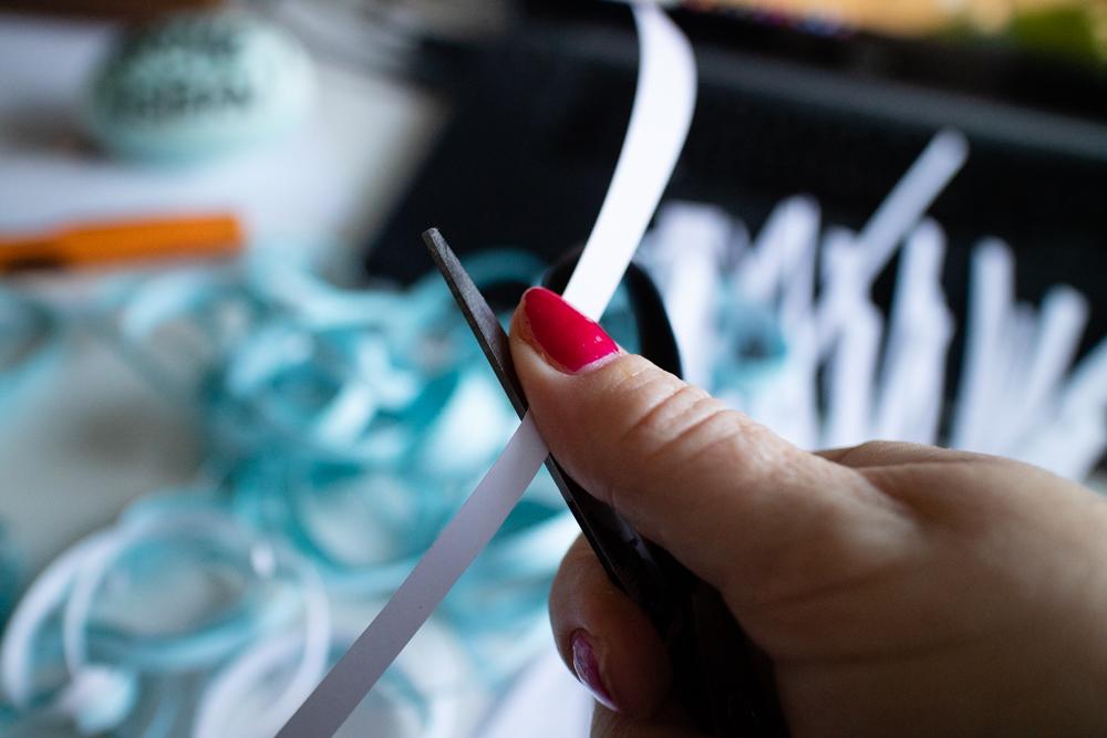 Sandra Dirks - Ostergras selber machen aus Papierstreifen und Lieblingsfarben