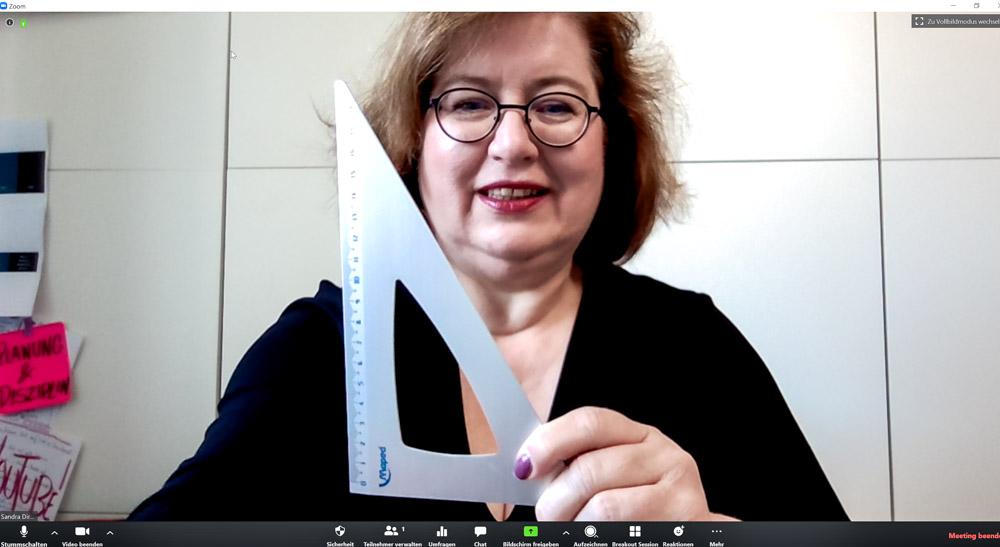 Sandra Dirks - HowTo-Webcam im Zoomfenster 90 Grad