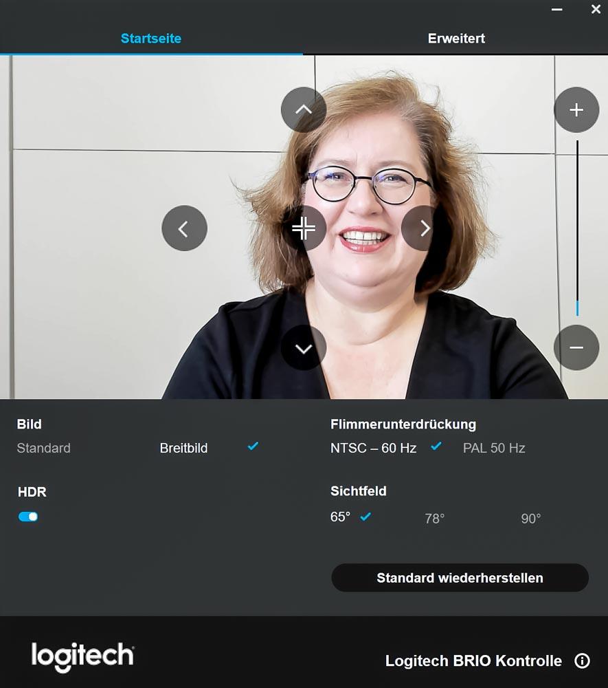 Sandra Dirks - HowTo_Webcam Einstellungen Logitech