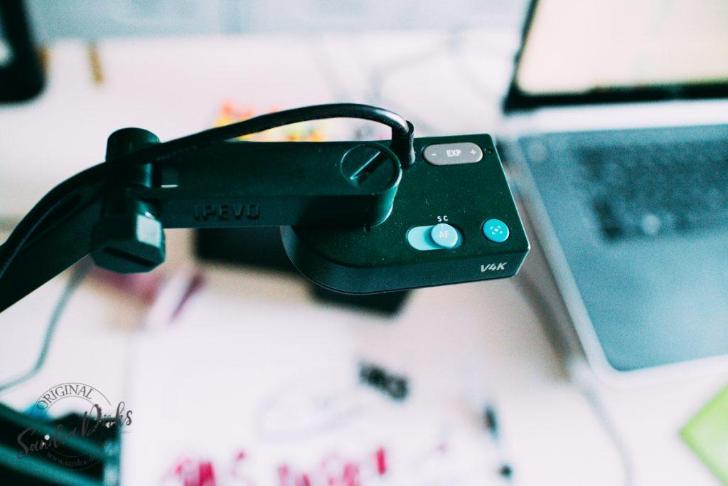 Sandra Dirks - Webcam oder Dokumentenkamera, das ist hier die Frage - IPEVO V4K - Detail