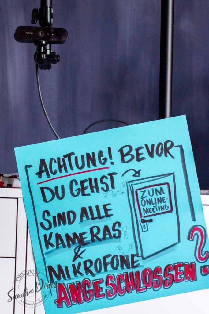 Sandra Dirks - Hinweis zur Webcam vor Betreten des Meetingraums