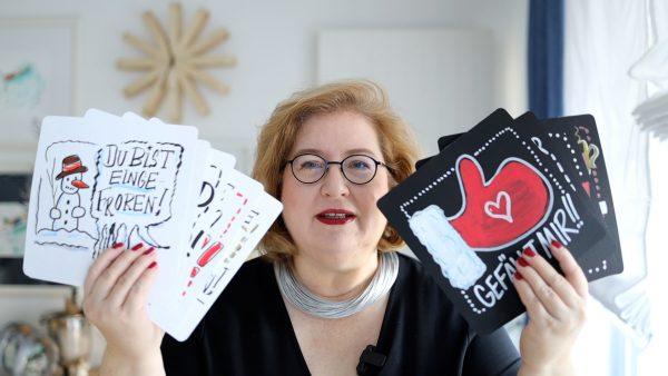 Sandra Dirks -Online-Meetingkarten selber machen
