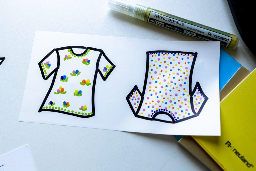 Sandra Dirks - estatics in T-Shirt-Form als visuelle Teilnehmerliste nutzen mit Acrylics