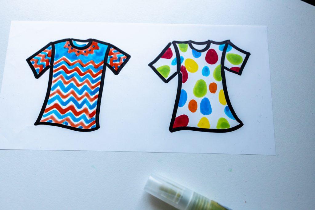 Sandra Dirks - estatics in T-Shirt-Form als visuelle Teilnehmerliste nutzen mit mehr Mustern